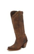 WOMEN'S TAN SAIGETS WORN GOAT BLACK LABEL WESTERN BOOTS