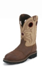 MEN'S SIENNA GRIZZLY 3R™ STEEL TOE WORK BOOTS WITH TAN TOPS
