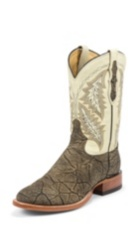 MEN'S SADDLE VINTAGE SAN SABA™ ELEPHANT WESTERN BOOTS WITH CREAM TOPS