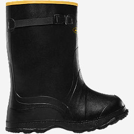 "Utah Brogue Overshoe 14"" Black"