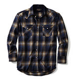 Pendleton Canyon Shirt Fitted - Tan/Blue
