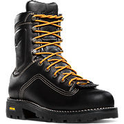 Quarry™ Plain Toe Black Work Boots