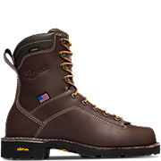 "Quarry USA 8"" Brown GTX Alloy Toe"