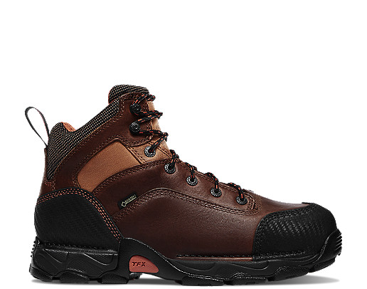 Corvallis GTX Non-Metallic Safety Toe Work Boots Brown