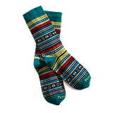 Pendleton Casa Grande Stripe Sock - Turquoise