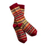 Pendleton Casa Grande Stripe Sock - Cardinal