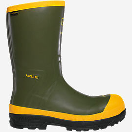 "SPOG 12"" Olive Green Safety Toe Work Boots"