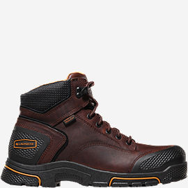 "Adamas™ 6"" Brown Plain Toe Work Boots"