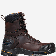 "Adamas™ 8"" Brown Plain Toe Work Boots"