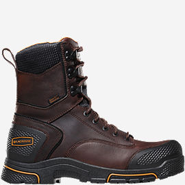 "Adamas™ 8"" Brown Steel Toe Work Boots"