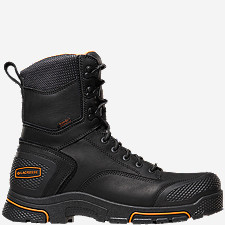 "Adamas™ 8"" Black Steel Toe Work Boots"