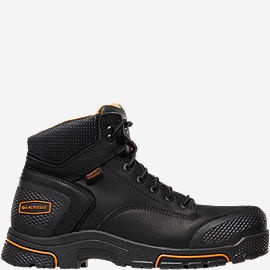 "Adamas™ 6"" Black Plain Toe Work Boots"