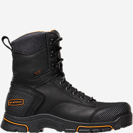 "Adamas™ 8"" Black Plain Toe Work Boots"
