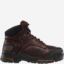 "Adamas™ 6"" Brown Met Guard Steel Toe Work Boots"