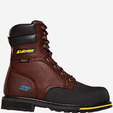 "Brakeman™ 8"" Non-Metallic Safety Toe Work Boots"