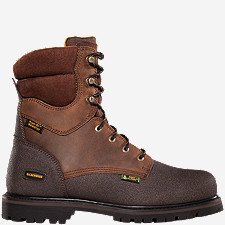 "Extreme Tough™ 8"" 600G Plain Toe Work Boots"