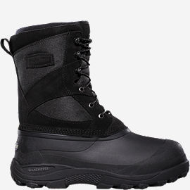 Women's Pine Top Black Leather & Fabric Pac Boots