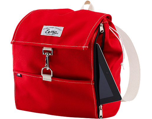 Beckel Canvas Red Rucksack