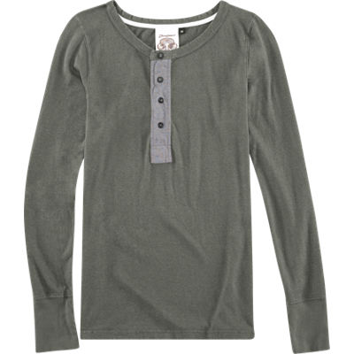 Jungmaven L/S Mountain Henley - Gray