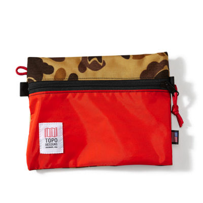 Topo Designs Accessory Bag Md - Camo/Orange