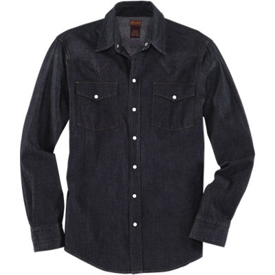 Dickies 1922 Cone Denim 8.25oz Western Shirt - Indigo Rinsed
