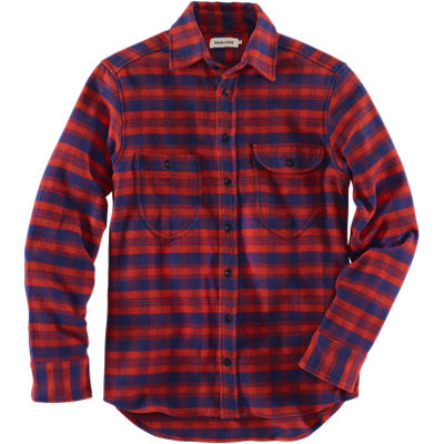 Taylor Stitch Flannel Utility Shirt - Red/Blue