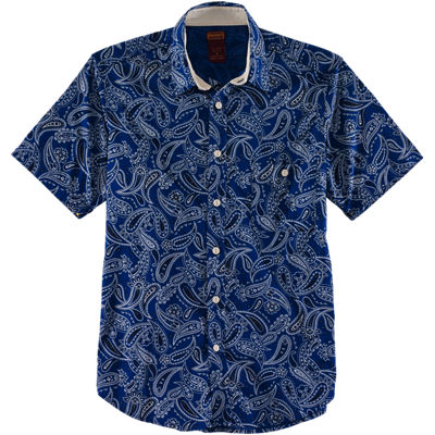 Dickies 1922 SS Paisley Rinsed Shirt - Royal