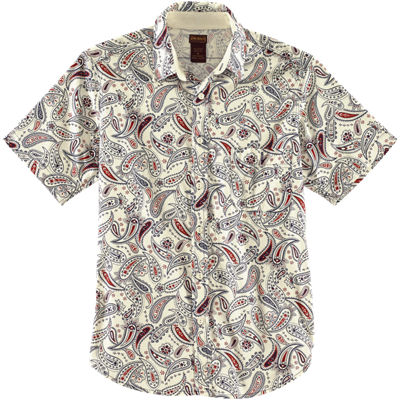 Dickies 1922 SS Paisley Rinsed Shirt - Natural