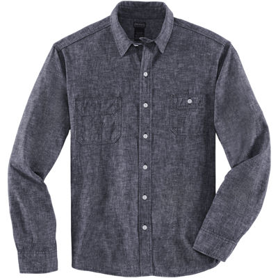 Dickies 1922 LS Chambray Chinstrap Shirt - Black
