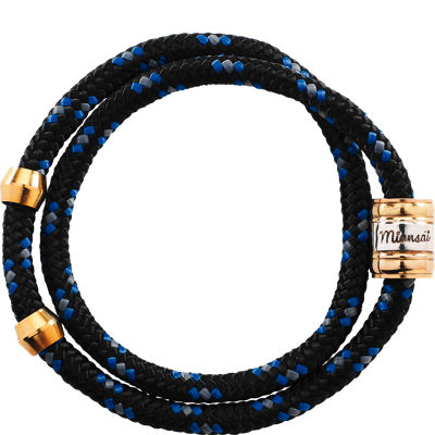 Miansai Casing Rope Wrap - Black/Blue