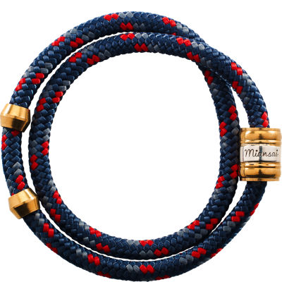 Miansai Casing Rope Wrap - Navy/Red
