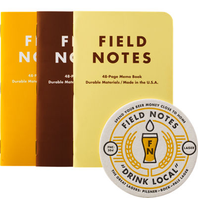 Field Notes 3 Pack - Drink Local Lager