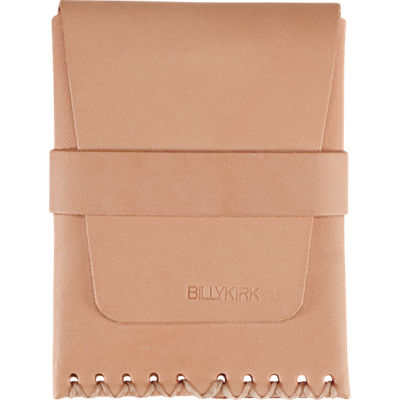 Billykirk Card Case w/ Flap - Natural