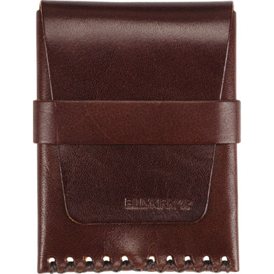Billykirk Card Case w/ Flap - Brown