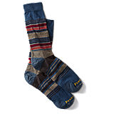 Pendleton Striped Crew Sock - Blue Gray
