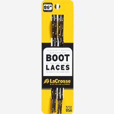 "Laces 86"" Black Green Tick"
