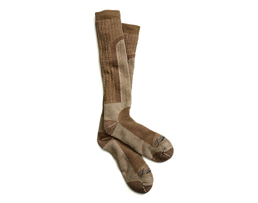 Acadia Tan Mid Weight Over Calf Socks