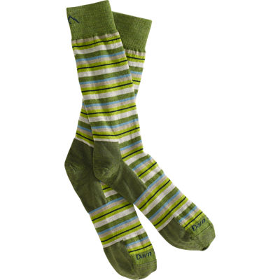 DarnTough Crew Sock Small Stripe Cedar