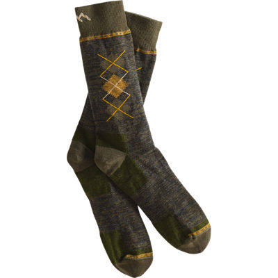 DarnTough crew sock argyle- forest