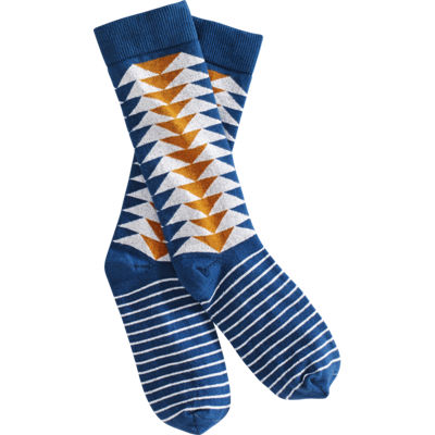 Richer Poorer Fighter Sock - Blue