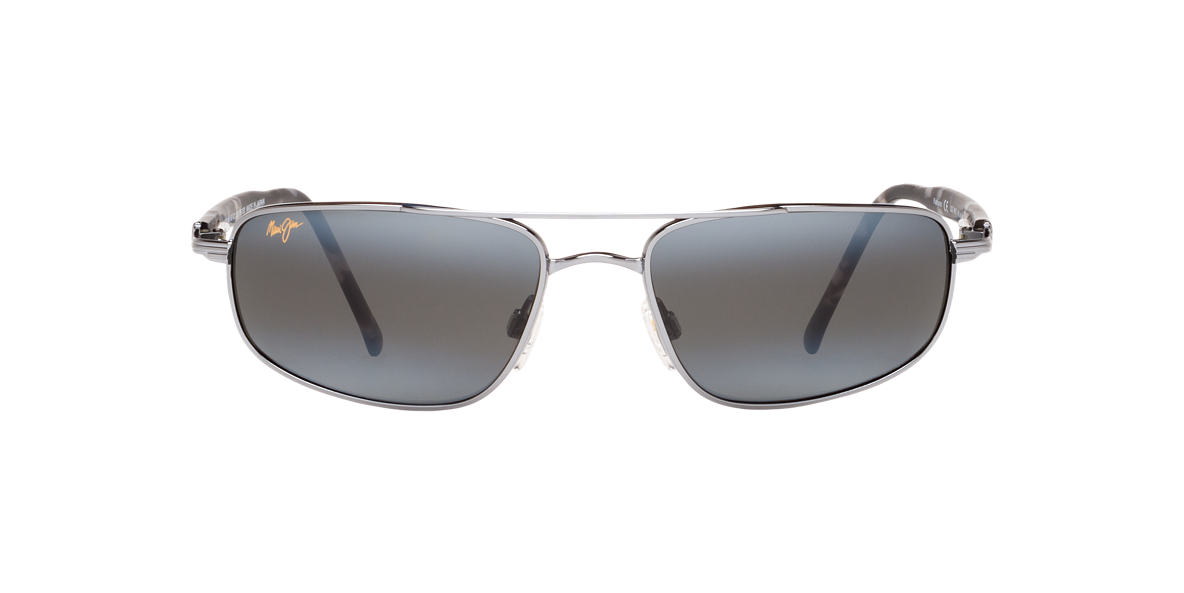 MAUI JIM Gunmetal Shiny 162 KAHUNA Grey polarized lenses 60mm