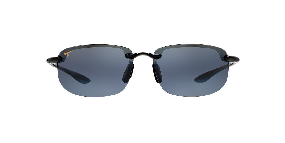 MAUI JIM Black 407 HOOKIPA Grey polarised lenses 63mm