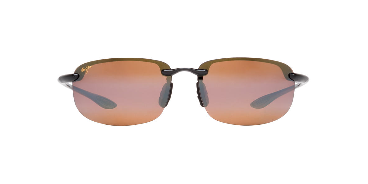 MAUI JIM Black Shiny 407 HOOKIPA Brown polarized lenses 64mm