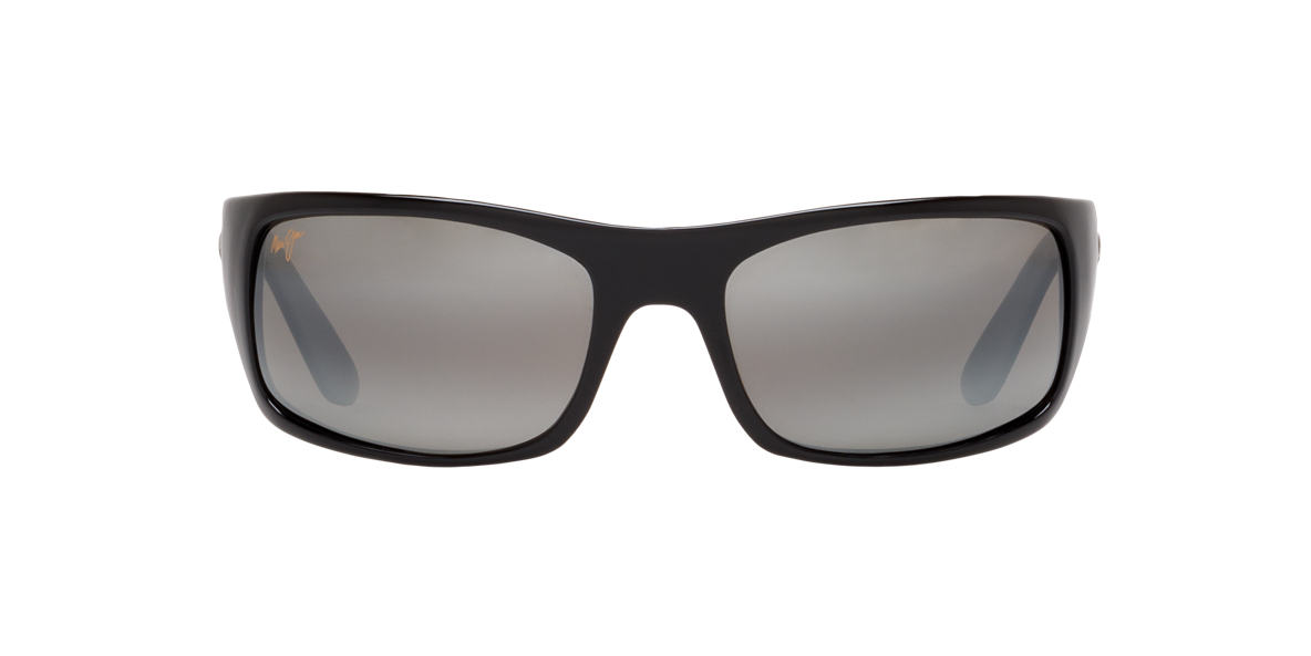 MAUI JIM Black 202 PEAHI Grey polarized lenses 66mm