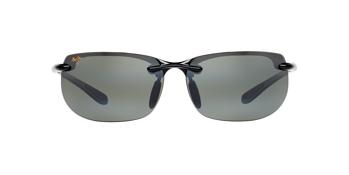 polarized mirrored sunglasses tqcc  Maui Jim 412 BANYANS 67 Grey & Black Polarized Sunglasses  Sunglass Hut USA