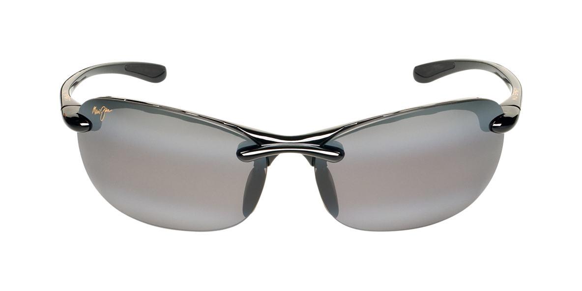 MAUI JIM Black Shiny 413 HANALEI Grey polarized lenses 64mm