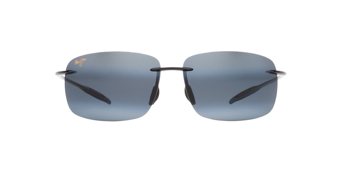 MAUI JIM Black Shiny 422 BREAKWALL Grey polarized lenses 63mm