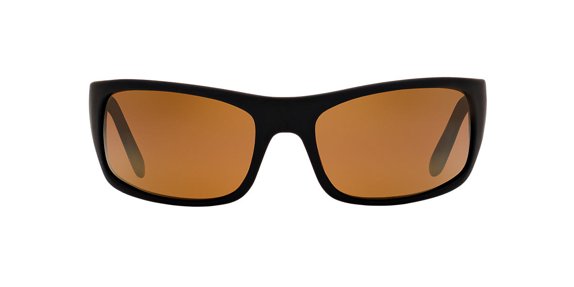 MAUI JIM Black Matte 202 PEAHI Bronze polarized lenses 66mm
