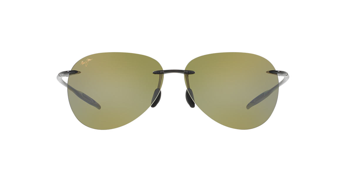 MAUI JIM Grey 421 SUGAR BEACH Green polarized lenses 62mm