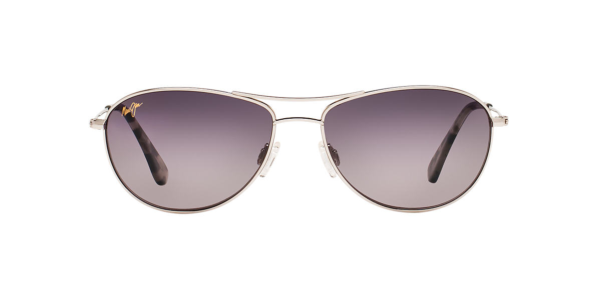 MAUI JIM Silver 245 BABY BEACH Grey polarized lenses 56mm